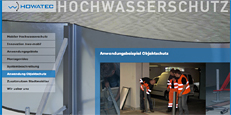 Website Howatec Hochwasserschutz