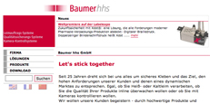 Website Baumer hhs